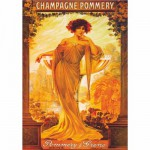 Puzzle  DToys-67555-VP06 Poster vintage - Champagne Pommery et Greno
