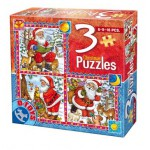 Dtoys-67630-CH-01 Contes de Noël : 3 Puzzles de Noël