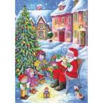 Puzzle  DToys-67647-CH01 Collection de Noël - Discussion avec le Père Noël