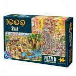 Dtoys-67760-CC-03 2 Puzzles - La Tour de Pise