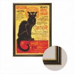 Dtoys-68217-AP-04 Cadre + Toile : Le Chat Noir