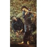 Puzzle  Dtoys-72733-BU-02 Edward Burne-Jones: La Séduction de Merlin, 1872-1877