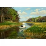 Puzzle  Dtoys-72795-BR-01 Hans Andersen Brendekilde: A You Couple in a Rowing Boat on Odense
