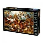 Puzzle  Dtoys-72900-BR-02 Brueghel Pieter : La Chute des Anges Rebelles, 1562