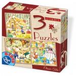 Dtoys-72924-EM-01 3 Puzzles - Contes et Légendes