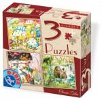 Dtoys-72924-EM-02 3 Puzzles - Contes et Légendes