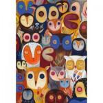 Puzzle  Dtoys-73747-OW02 Kurti Andi - Collage - Hiboux
