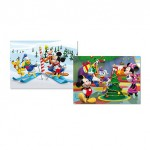 Educa-14207 2 Puzzles - Mickey : L'hiver