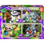 Educa-16350 4 Puzzles - Disney Fairies