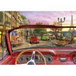 Puzzle  Educa-16768 Paris en Voiture