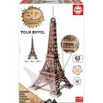 Educa-16998 Puzzle 3D en Bois - Tour Eiffel