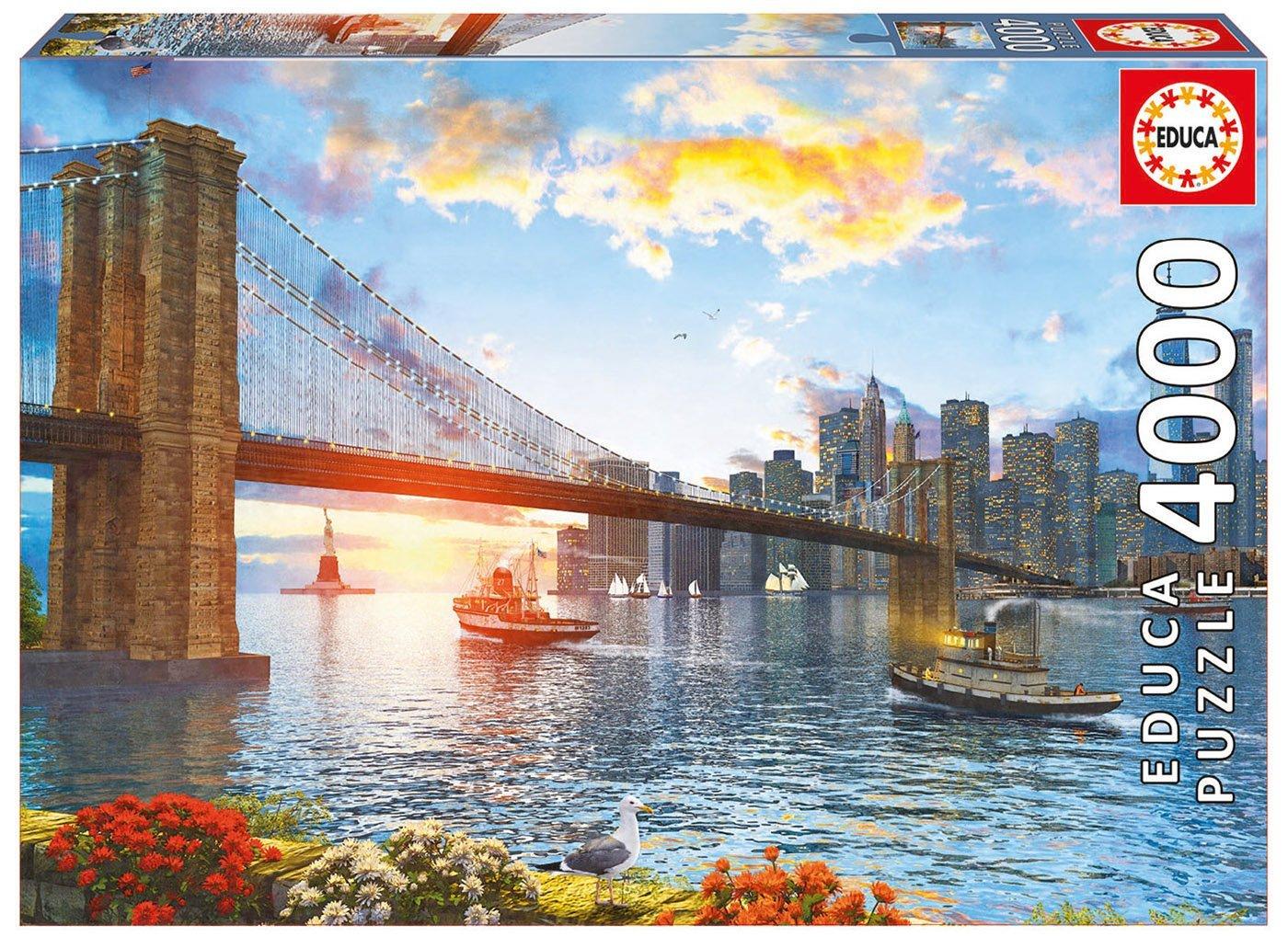 puzzle new york sunset educa 16782 4000 pi ces puzzles. Black Bedroom Furniture Sets. Home Design Ideas