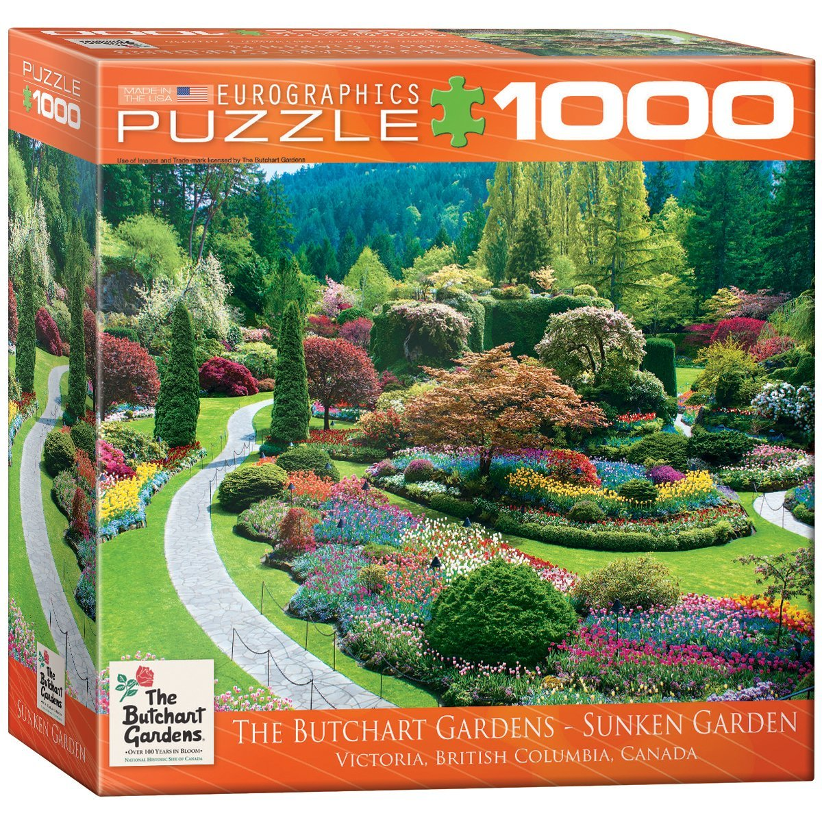 puzzle butchart gardens sunken eurographics 8000 0700 1000 pi ces puzzles for ts fleurs et. Black Bedroom Furniture Sets. Home Design Ideas