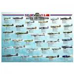 Puzzle  Eurographics-6000-0379 Avion de chasse Seconde Guerre Mondiale - Les Alliés