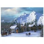 Puzzle  Eurographics-6000-0426 Davison - Noël dans les Rocheuses