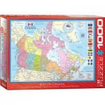 Puzzle  Eurographics-6000-0781 Carte du Canada