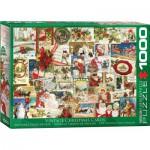 Puzzle  Eurographics-6000-0784 Anciennes Cartes de Noël