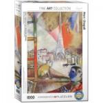 Puzzle  Eurographics-6000-0853 Marc Chagall - Paris par la Fenêtre (détail)