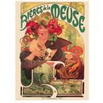 Puzzle  Eurographics-6000-3455 Alphonse Mucha : Bieres de la Meuse