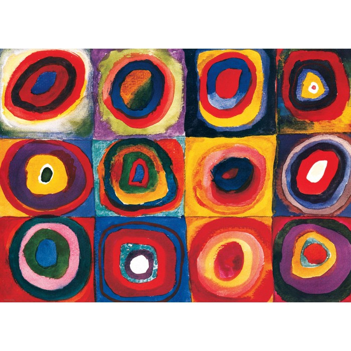 Kandinsky Vassily - Color Study of Squares