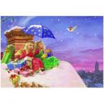 Puzzle  Eurographics-6500-0351 Michael Philip Gustafsson : Anges sur le toit