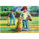 Puzzle  Eurographics-8000-0452 Corinne Hartley - Jouons au Baseball
