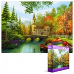 Puzzle  Eurographics-8000-0695 Dominic Davison : Eglise d'Automne