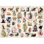 Eurographics-8300-0991 Pièces XXL - Familiy Puzzle: Yoga Kittens