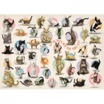 Pièces XXL - Familiy Puzzle: Yoga Kittens
