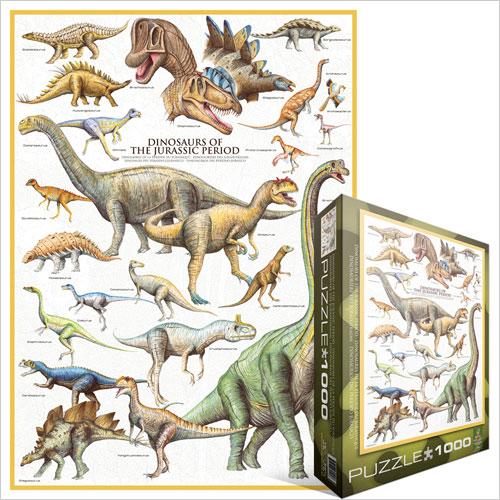 Puzzle les dinosaures p riode du jurassique eurographics - Liste dinosaures ...