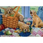 Puzzle  Jumbo-11054 Susan Brabeau : Playful Puppies
