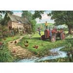Puzzle  Jumbo-11140 Pièces XXL - Steve Crisp - Old Tractor
