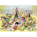 Puzzle  Gibsons-G6187 Linda Jane Smith: Glamping Cats