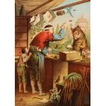 Puzzle  Grafika-Kids-00241 Pièces Magnétiques - Carl Offterdinger : Le Loup et les sept Chevreaux