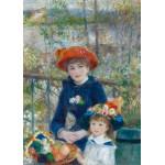 Puzzle  Grafika-Kids-00254 Pièces Magnétiques - Auguste Renoir : Deux Soeurs sur la Terrasse, 1881