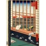 Puzzle  Grafika-Kids-00266 Utagawa Hiroshige : Rizières d'Asakusa et Festival Torinomachi, 1857