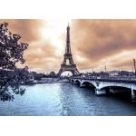 Puzzle  Grafika-Kids-00381 La Tour Eiffel par Temps de Pluie en Hiver