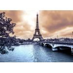 Puzzle  Grafika-Kids-00382 Pièces Magnétiques - La Tour Eiffel par Temps de Pluie en Hiver