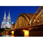 Puzzle  Grafika-Kids-00397 Pièces Magnétiques - Cathédrale et Pont Hohenzollern de Cologne