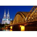 Puzzle  Grafika-Kids-00398 Pièces XXL - Cathédrale et Pont Hohenzollern de Cologne