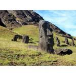 Puzzle  Grafika-Kids-00625 Île de Pâques, Moai at Quarry
