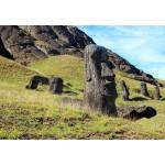 Puzzle  Grafika-Kids-00626 Île de Pâques, Moai at Quarry