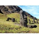 Puzzle  Grafika-Kids-00627 Île de Pâques, Moai at Quarry