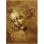 Puzzle  Grafika-Kids-00713 Léonard de Vinci : Visage de Giovane Fanciulla, 1508