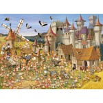 Puzzle  Grafika-Kids-00814 François Ruyer: Le Château des Lapins