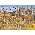 Puzzle  Grafika-Kids-00817 Pièces magnétiques - François Ruyer: Le Château des Lapins