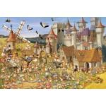 Puzzle  Grafika-Kids-00818 Pièces XXL - François Ruyer: Le Château des Lapins