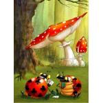 Puzzle  Grafika-Kids-00825 François Ruyer: Poker des Coccinelles