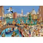 Puzzle  Grafika-Kids-00854 François Ruyer : Les Lapins à Venise