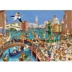 Puzzle  Grafika-Kids-00858 Pièces magnétiques - François Ruyer : Les Lapins à Venise